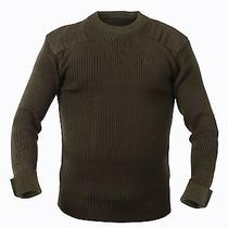 Military Style Acrylic Tactical Commando Crewneck Sweater Olive Drab Green Photo