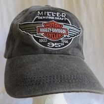 Miller Genuine Draft Harley Davidson Motorcycles 95th Anniversary Baseball Hat Photo