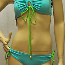 Milly Cabana 2 Bikini Set Aqua Color Size Medium Nwt Photo