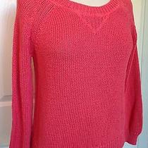 Milly Collection for Banana Republic Coral Cotton Light Sweater Petite Sm Photo