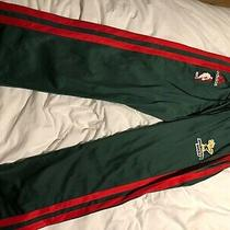 Milwaukee Bucks Adidas Men's Size M Snap Tear Away Warm Up Pants Green Old Logo Photo