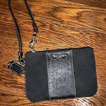 Mini Authentic Coach Cluth Purse Wallet Black Photo