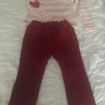 Mini Boden Red Velour Pants With Coordinated Sweater- Nordstrom Design History Photo