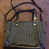 Mini Cindy Shoulder Bag by Thirty One Purse Tote Houndstooth Retired Rare Photo