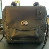 Mini Faye Backpack (Coach F34830)black/black Antique Nickel Convertible Purse Photo