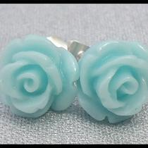 Mini Rose Earrings Usa Seller Wholesale Girl Baby Child Adult Cabochon  Photo