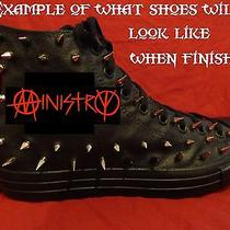 Ministry Metal Punk Rock Custom Studded Converse Shirt Sneakers Shoes W Spikes Photo