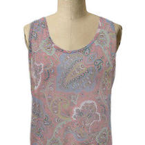 Mink Pink Top Sz 10 Nwt Nordstrom Multi Color Sheer Hi Low Boho Paisley Print Photo
