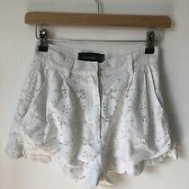 Mink Pink White Lace High Waisted Shorts Size Xs  Photo