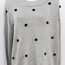 Mink Pink Womens Grey and Black Long Sleeve Sweater Size Medium  Photo