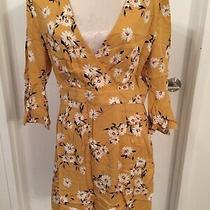 Mink Pink Yellow Summer Bloom Floral Dress - Size Large - Brand New With Tags Photo