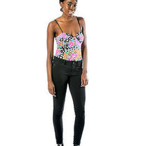 Minkpink Africana Print Bodysuit Laces Back Nwt Med African Print Photo