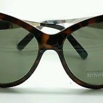 Minkpink Brown Tortoise Cat Eye Wayfarer Sunglasses Green Lens Photo