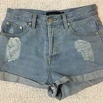 Minkpink Distressed Denim Shorts Size Xs Photo