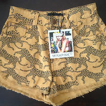 Minkpink Fair Game Animal Print Shorts Size Small Free Shipping  Photo