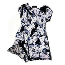 Minkpink Floral Boho Blue Romper Lace Trim Romantic Button Up Sz Xs Photo
