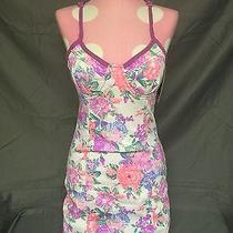 Minkpink Floral Dress / Size S / Pink and Purple / Corset Bustier Dress / Nwt Photo