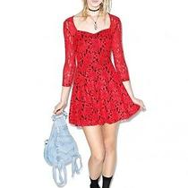 Minkpink Little Red Dress Skater Dress Urbanoutfitters (Small)-Msrp 87.00 Photo