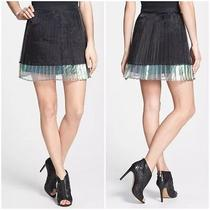 Minkpink 'Mother of Pearl' Knife Pleat Skirt - Size Small Photo