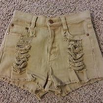 Minkpink Nasty Gal Urban Slasher Flick Cut Off High Waisted Distressed Shorts Xs Photo