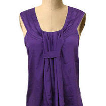 Minkpink Nordstrom Purple Pleated Neckline Ruffle Front Delightful Blouse Sz Xs Photo