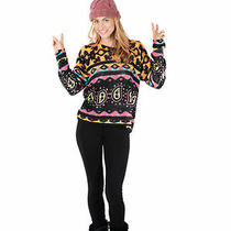 Minkpink Street Art Jumper Sweater Nwt Med Photo
