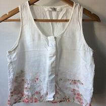 Minkpink White Foral Embroidered Cropped Top Vest Photo