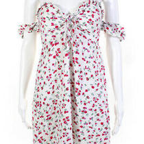 Minkpink Womens Burma Bloom Mini Dress White Red Size S 12439785 Photo