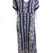 Minkpink Womens in Bloom v Neck Maxi Floral Shift Dress Blue Size Small 10976161 Photo