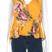 Minkpink Womens Sleeveless v Neck Tokyo Top Yellow Size Medium 11221625 Photo
