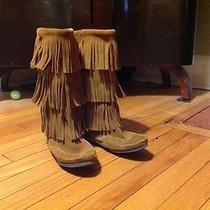 Minnetonka 3-Layer Fringe Boots 7 Photo