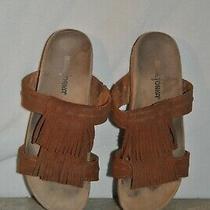 Minnetonka 74002 Leather Slides Fringe Sandals Women's Size 8 Photo