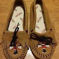 Minnetonka Beaded Moccasins 5 Slippers Eagle Photo
