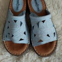 Minnetonka Blue Leather Slip-on Mule Sandals Women's Shoes Size 7 Photo