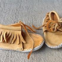 Minnetonka Boho Hippie Baby Moccasin Booties 5.5 Inches Long Photo
