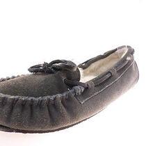Minnetonka Britt Trapper Womens Slipper 40394 Charcoal Size 7 Photo