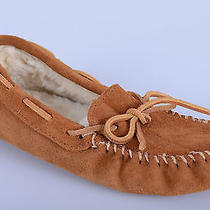 Minnetonka Brown Leather Casual Comfortable Insulated Moccasin Shoes Youth 5 Photo