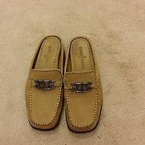 Minnetonka Brown Leather Loafers Mules Slide-on Shoes Size 5 Photo