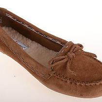 Minnetonka Brown Suede Leather Comfortable Insulated Moccasin Slippers Wos 7 M Photo