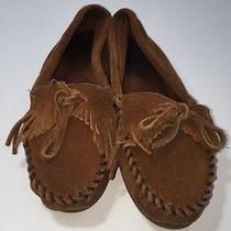 Minnetonka Brown Suede Leather Moccasins Sz 6 Photo