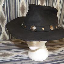 Minnetonka Buffalo Nickel Leather the Outback Cowboy Western Hat Men's Size Xl Photo