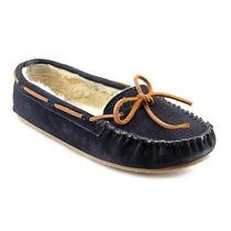 Minnetonka Cally Womens Size 8 Blue Suede Moccasin Slippers Shoes New/display Photo