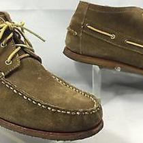Minnetonka Camp Boat Brown Suede Bucks Chukka Moccassin Boots Crepe Sole Mens 12 Photo