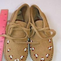 Minnetonka Childrens Leather Mocassins Shoes Gently Used  Photo