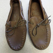Minnetonka Chocolate Brown Moccasins With Rubber Soles Womens Size 10 Photo