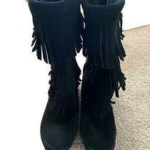 Minnetonka Fringe Boots Size 8 Photo
