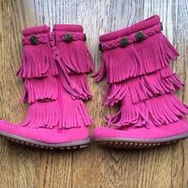 Minnetonka Infant Pink Fringe Boots Photo