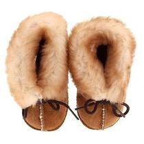 Minnetonka Infant Sheepakin Bootie Size 3 Nwot Photo