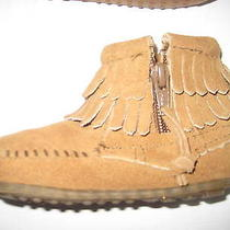 Minnetonka - Kids Infant Booties - Moccasin Size 4 Infant - Brown Girls Photo