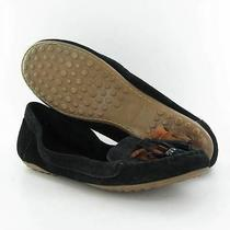Minnetonka Kilty Black Mocs Womens Size 9.5 M Used 70 Photo